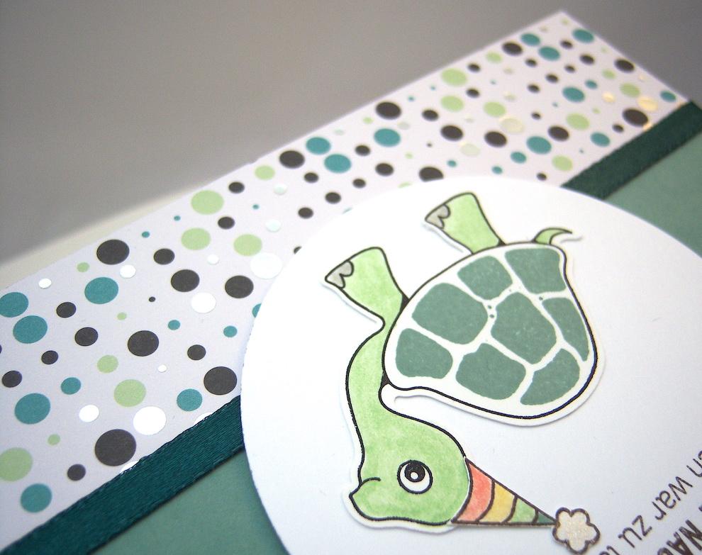 Geburtstagskarte Schildkröte Bild 3
