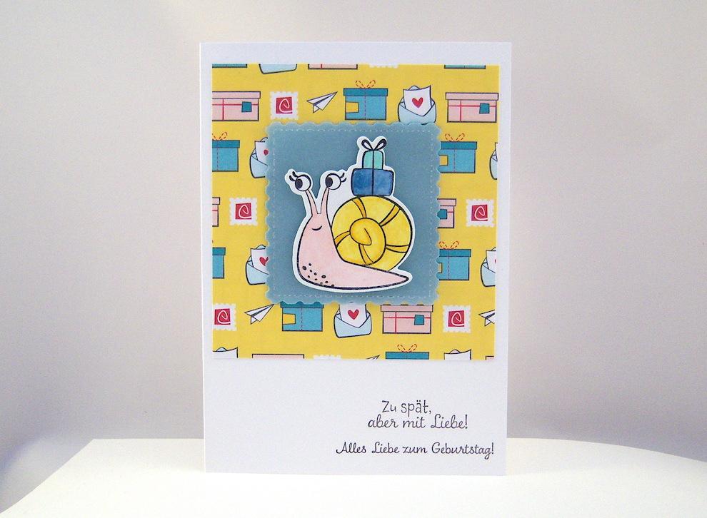 Geburtstag - Geburtstagskarte Schnecke Bild 1