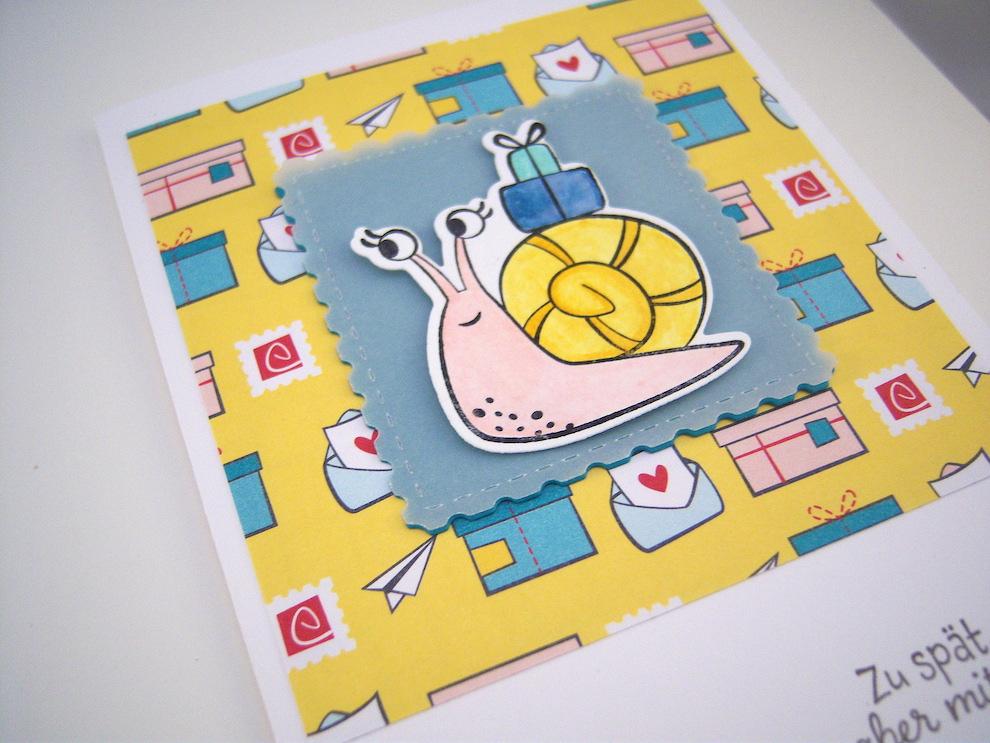 Geburtstagskarte Schnecke Bild 2