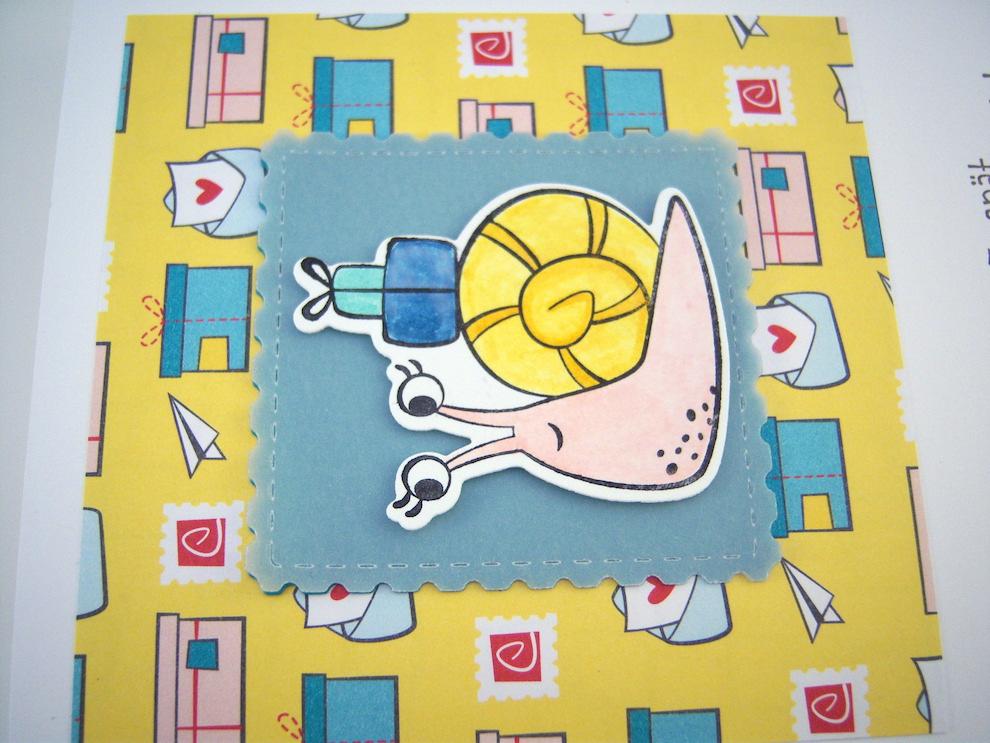 Geburtstagskarte Schnecke Bild 3