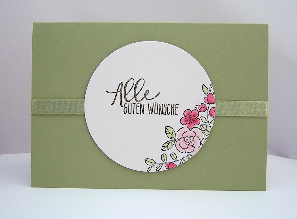Geburtstag - Geburtstagskarte -Allen guten Wünsche- Bild 1