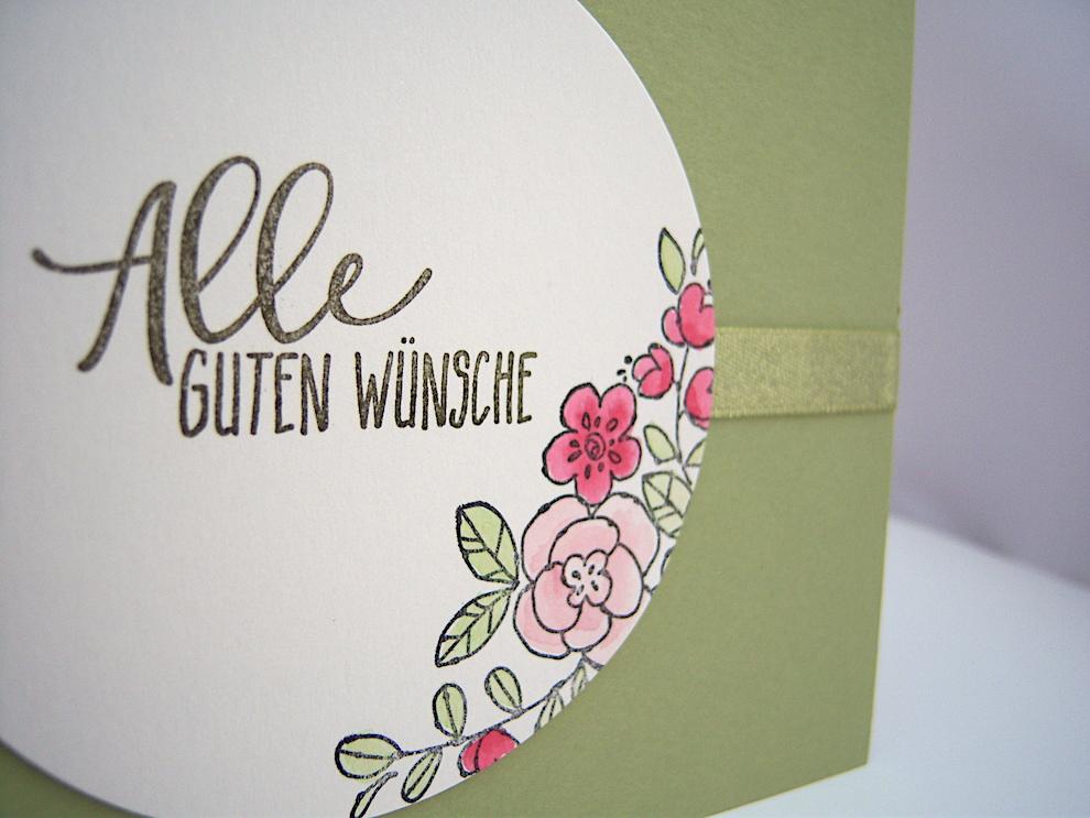 Geburtstagskarte -Allen guten Wünsche- Bild 2