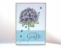 Geburtstagskarte -große Blume- Bild 1