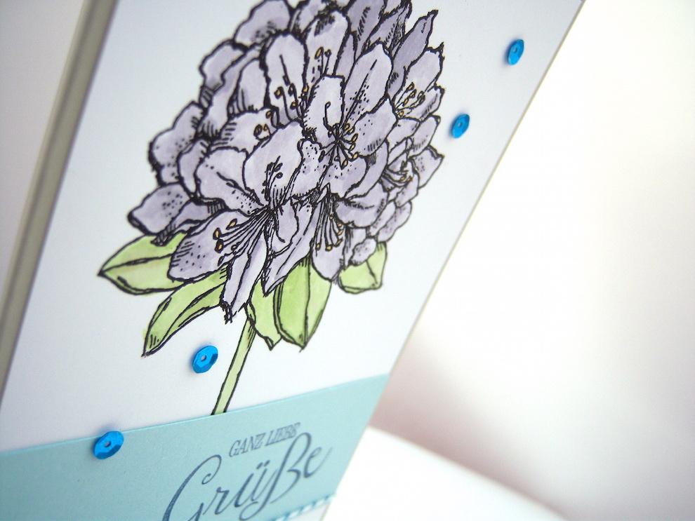 Geburtstagskarte -große Blume- Bild 2