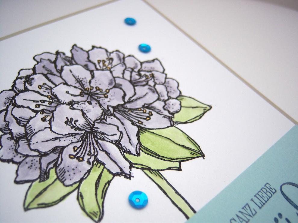 Geburtstagskarte -große Blume- Bild 3