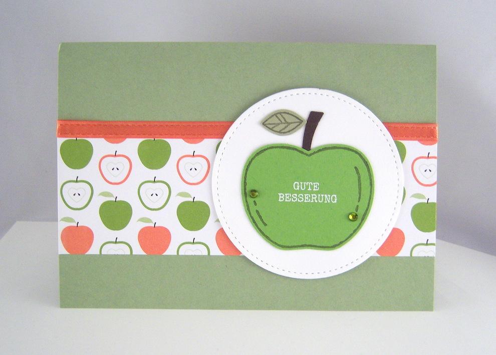 Sonstiges - Genesungskarte Apfel Bild 1