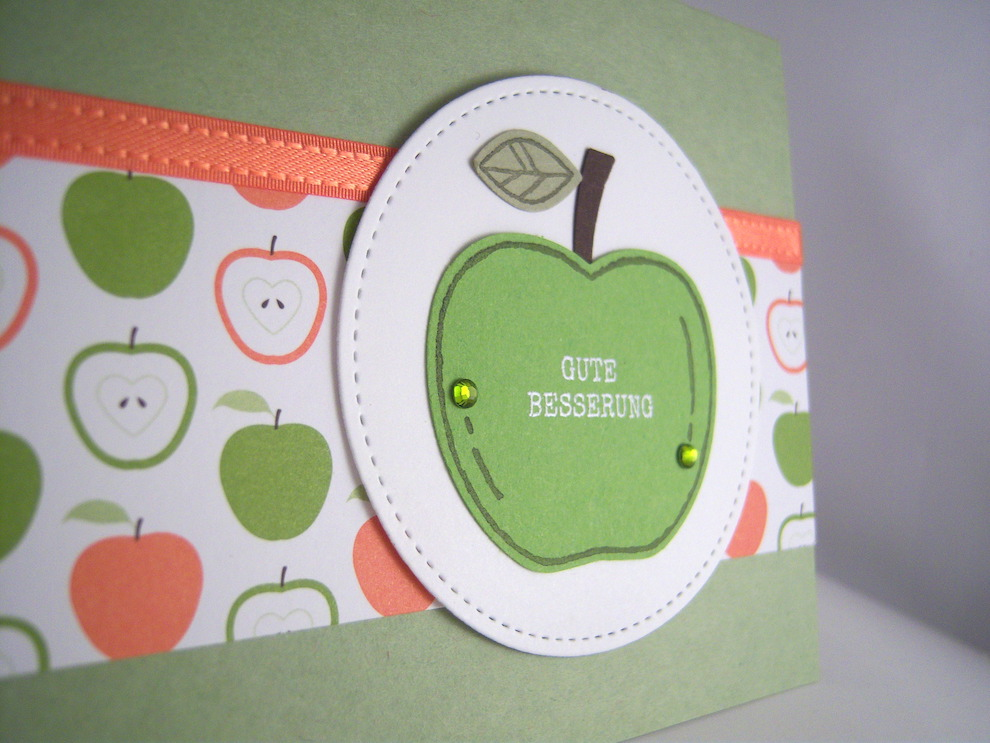 Genesungskarte Apfel Bild 2