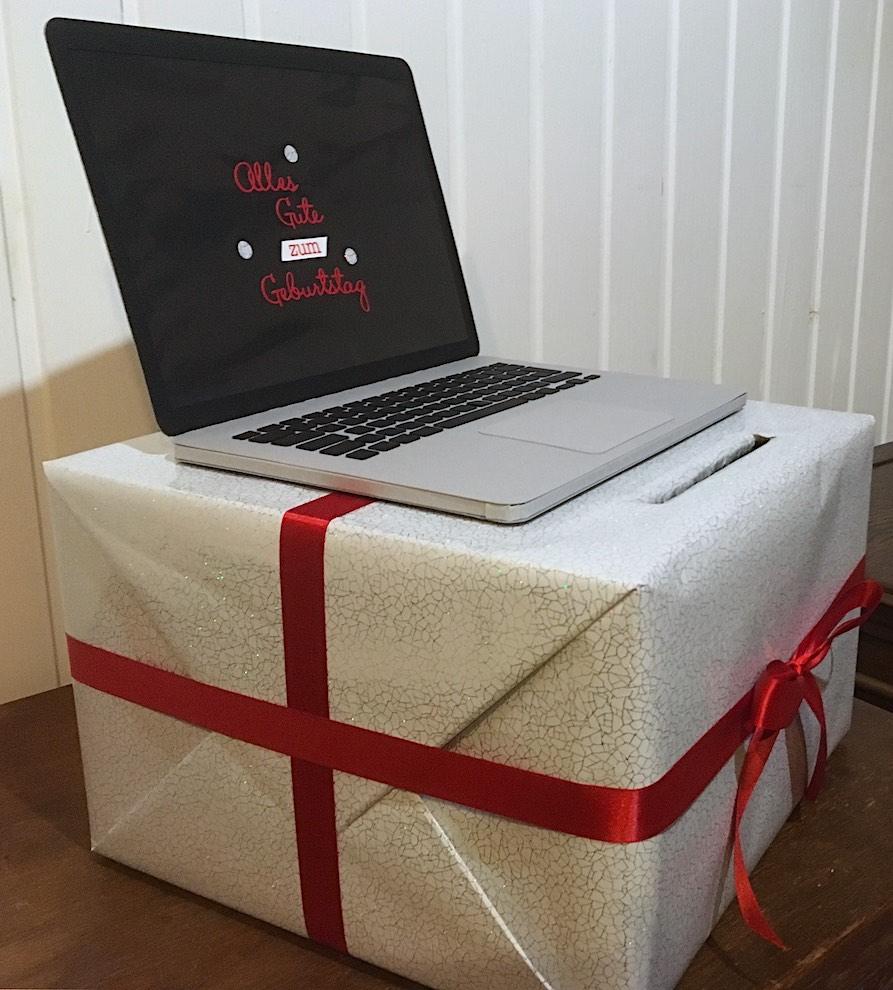 Geschenkbox Laptop Bild 2