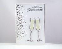 Glückwunschkarte Champagner Gläser Bild 1
