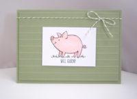 Grußkarte Viel Glück Schweinchen Bild 1