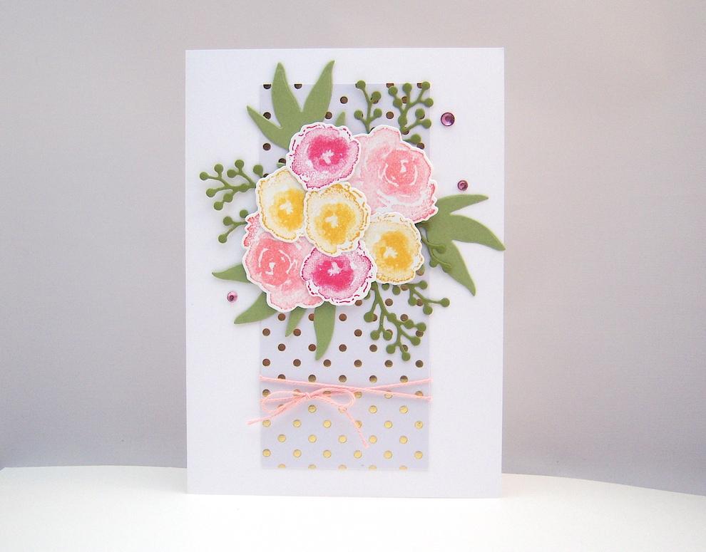 Sonstiges, Geburtstag - Grußkarte Blumenstrauß Bild 1