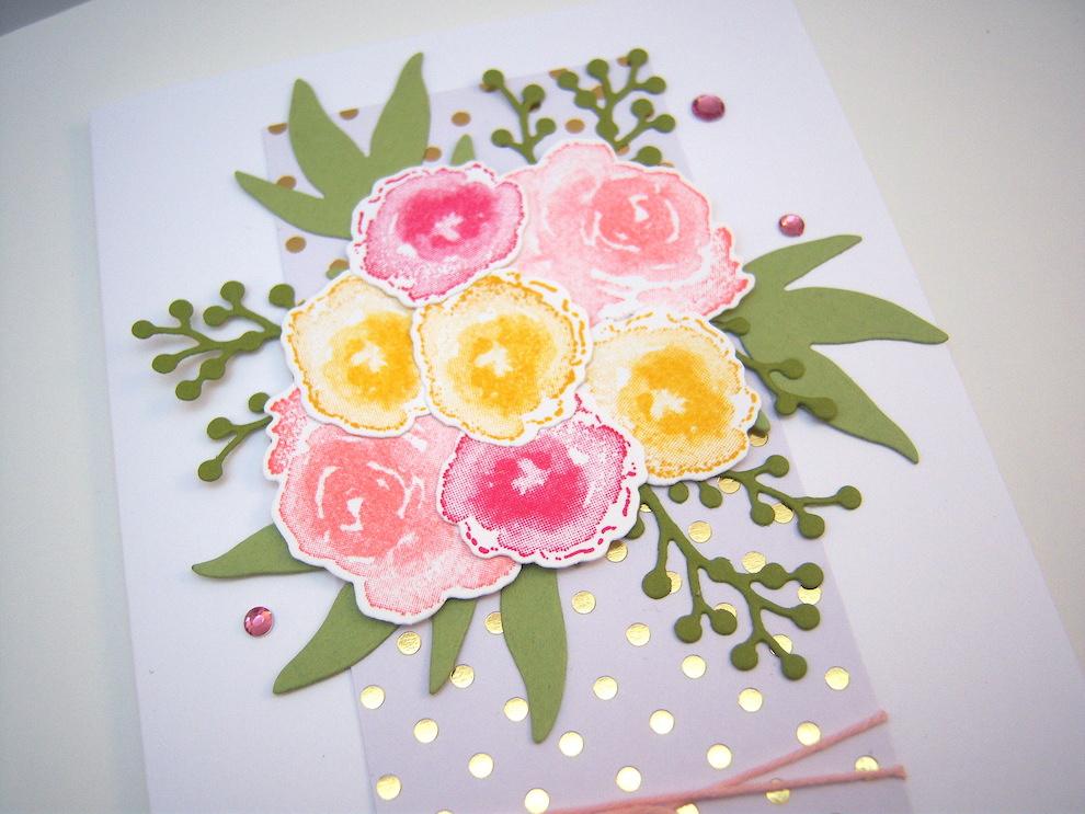 Grußkarte Blumenstrauß Bild 2