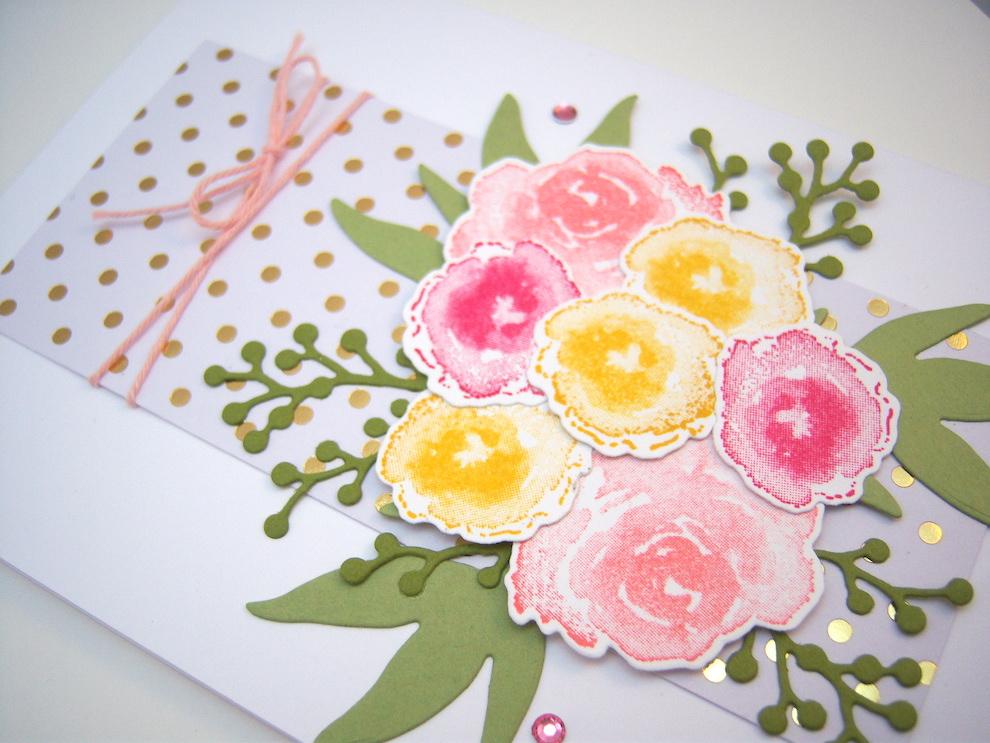 Grußkarte Blumenstrauß Bild 3