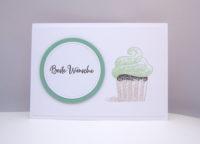 Grußkarte Cupcake Pistazie Bild 1