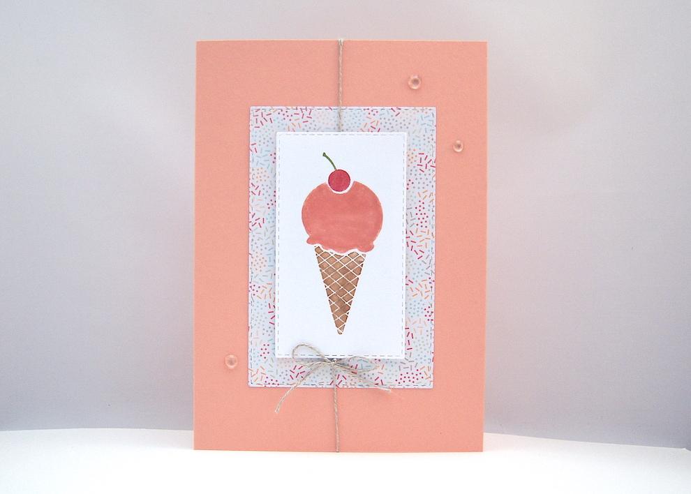 Sonstiges - Grußkarte Eis Bild 1