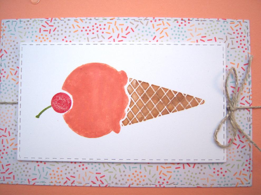 Grußkarte Eis Bild 4