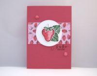 Grußkarte Erdbeere Bild 1