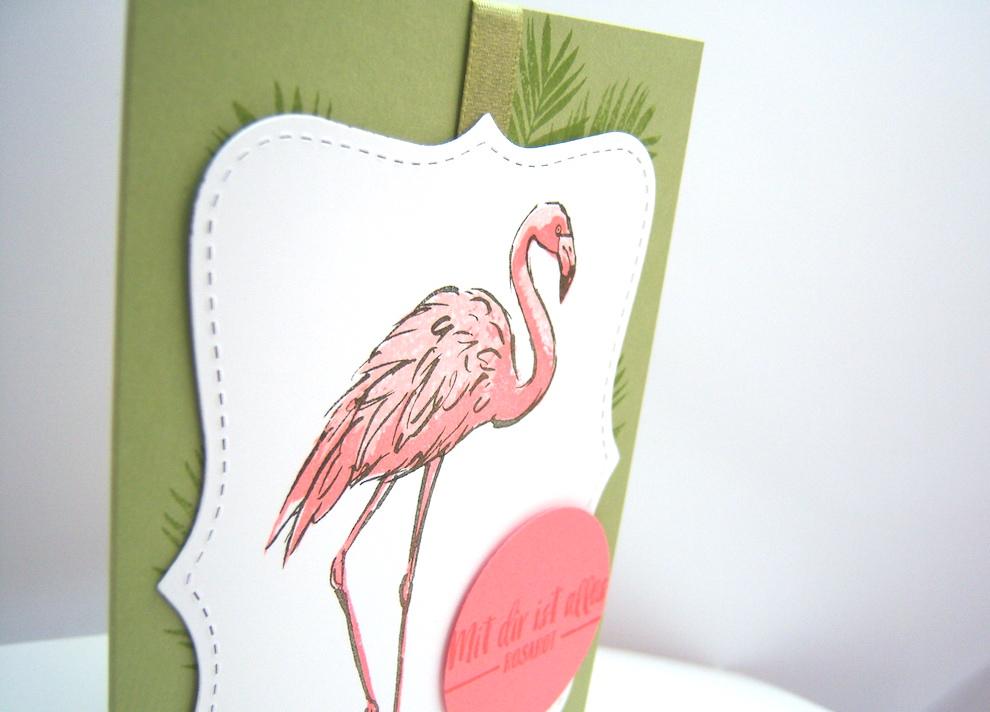 Grußkarte Flamingo Bild 2