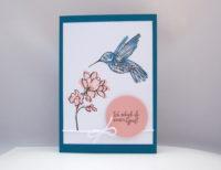 Grußkarte Kolibri Bild 1