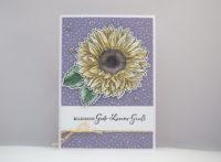 Geburtstagskarte Sonnenblume Bild 1
