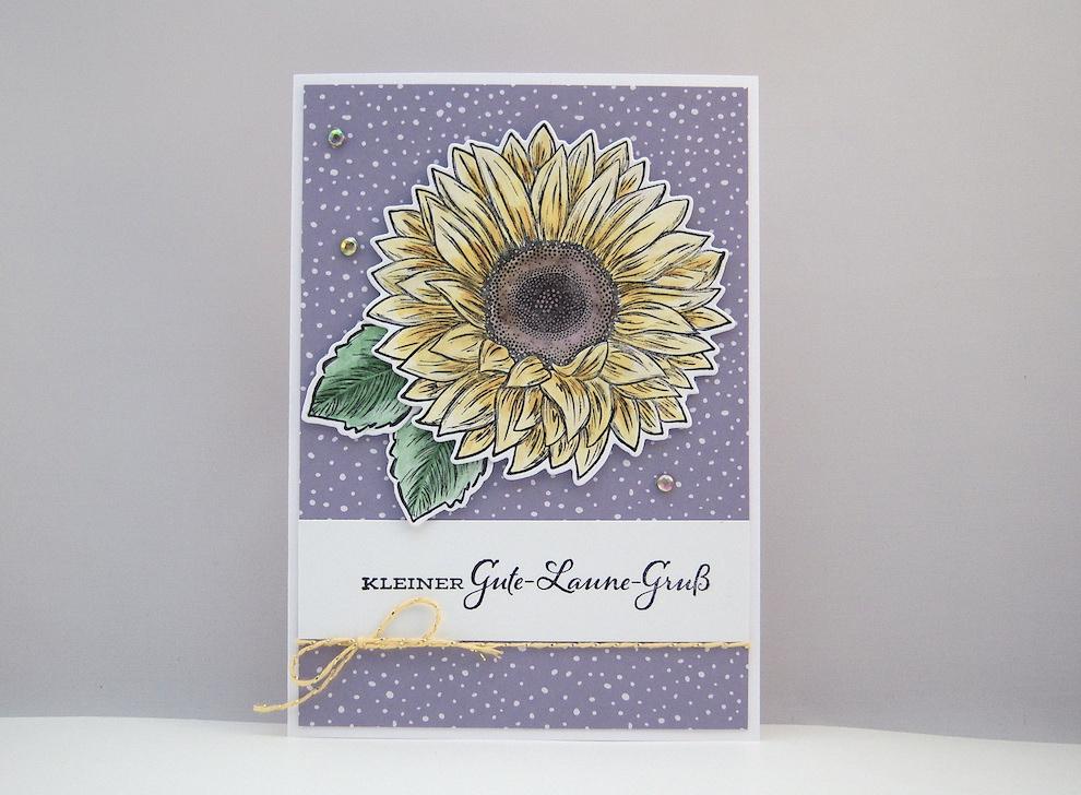 Geburtstag - Geburtstagskarte Sonnenblume Bild 1