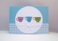 Grußkarte Tassen Bild 1