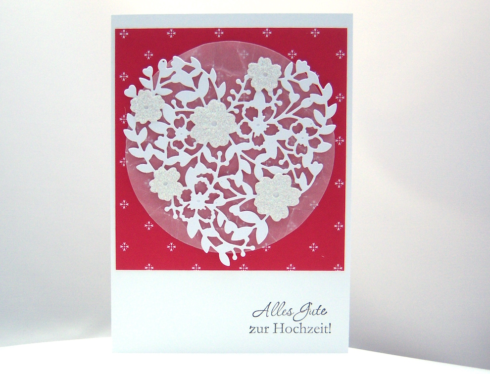 Hochzeit - Hochzeitskarte Blühendes Herz