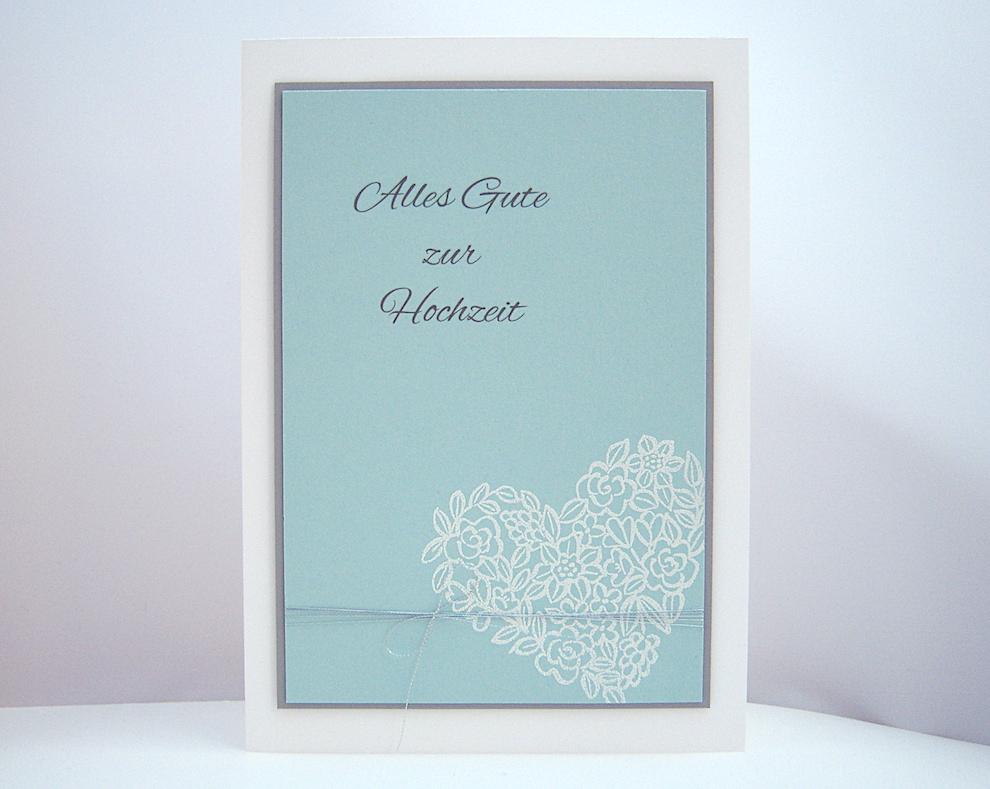 Hochzeit - Hochzeitskarte -Blumenherz- Bild 1