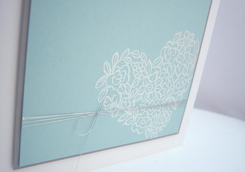 Hochzeitskarte -Blumenherz- Bild 2