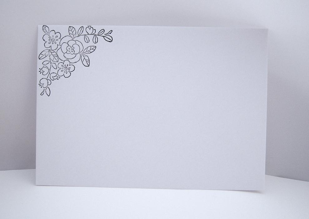 Hochzeitskarte -Blumenherz- Bild 3