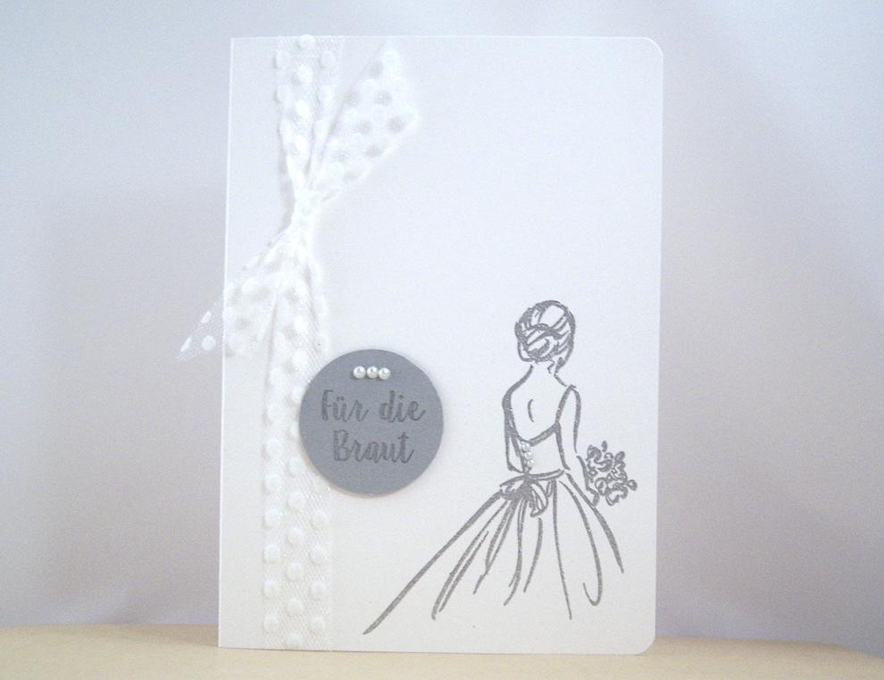 Hochzeit - Hochzeitskarte -Für die Braut- Bild 1