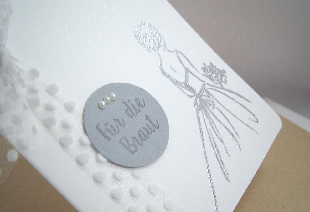 Hochzeitskarte -Für die Braut- Bild 2