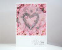 Hochzeitskarte -Herz und Blumen- Bild 1