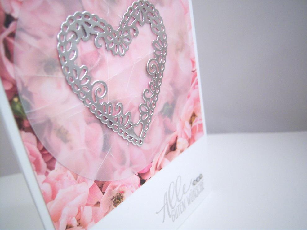 Hochzeitskarte -Herz und Blumen- Bild 2