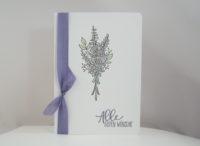 Hochzeitskarte -Lavendel- Bild 1