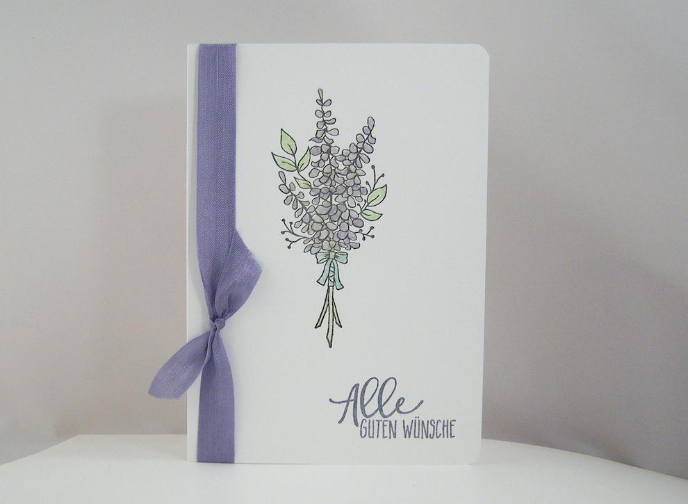 Hochzeit - Hochzeitskarte -Lavendel- Bild 1