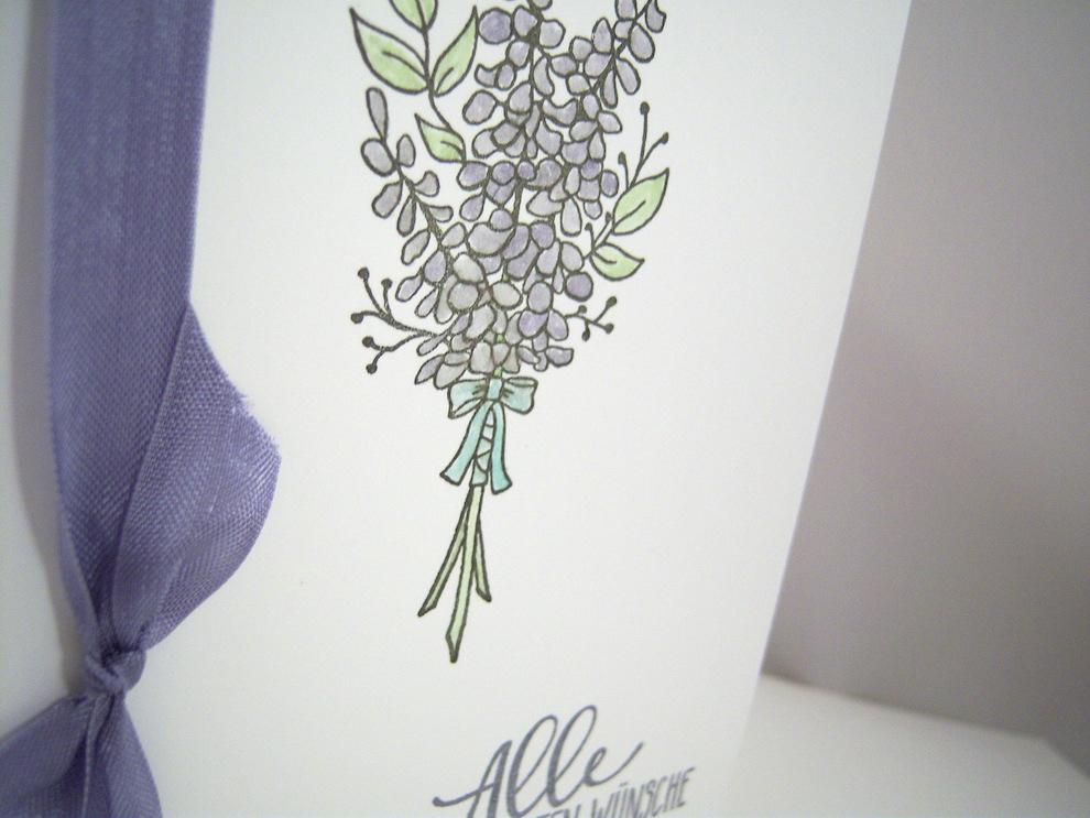 Hochzeitskarte -Lavendel- Bild 2