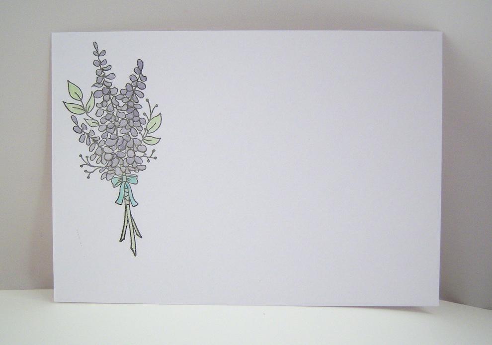 Hochzeitskarte -Lavendel- Bild 3