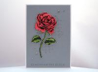 Hochzeitskarte Rose Bild 1