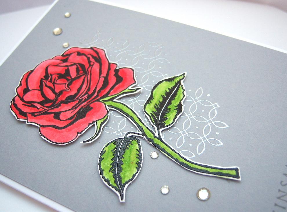 Hochzeitskarte Rose Bild 2
