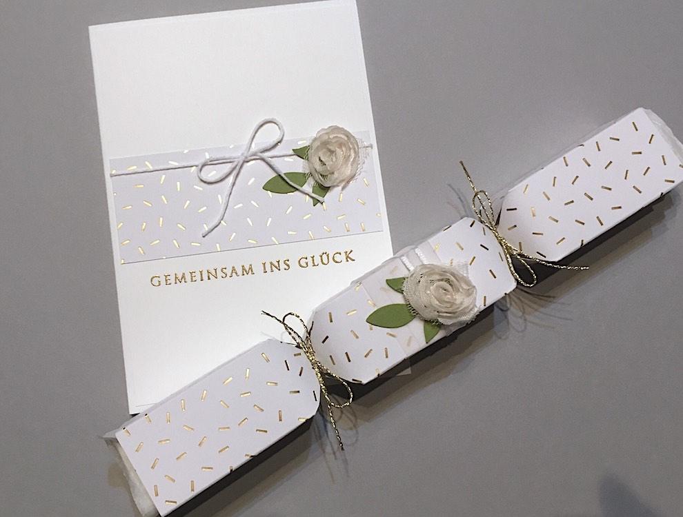 Hochzeit, Verpackungen - Hochzeitsverpackung und Karte -Konfetti- Bild1