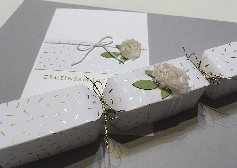 Hochzeitsverpackung und Karte -Konfetti- Bild 2