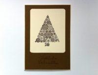 Weihnachtskarte Weihnachtsbaum Schneeflocken