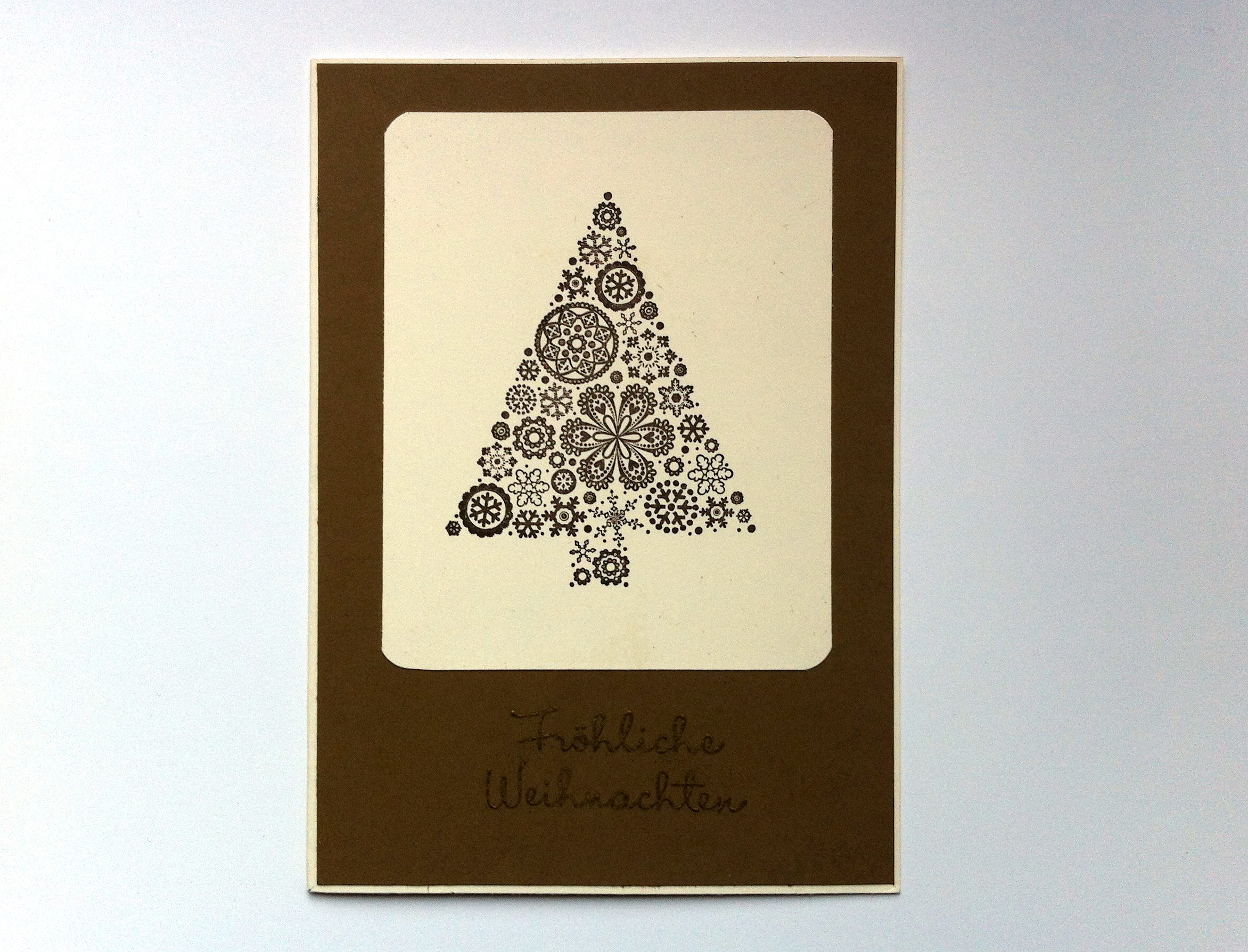 Weihnachten - Weihnachtskarte Weihnachtsbaum Schneeflocken