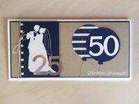 Karte zur Silbernen Hochzeit und 50. Geburtstag Bild 1