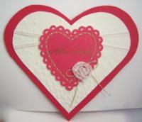 Karte in Herzform romantisch Bild 1