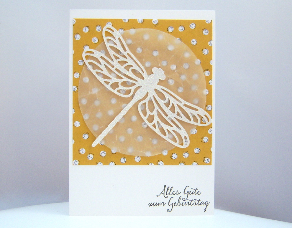 Geburtstag - Karte zum Geburtstag Libelle 1