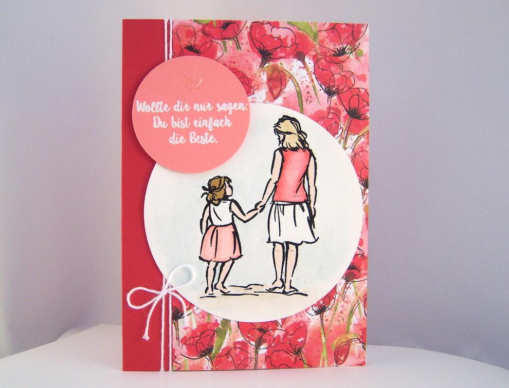 Sonstiges - Karte zum Muttertag Du bist die Beste Bild 1