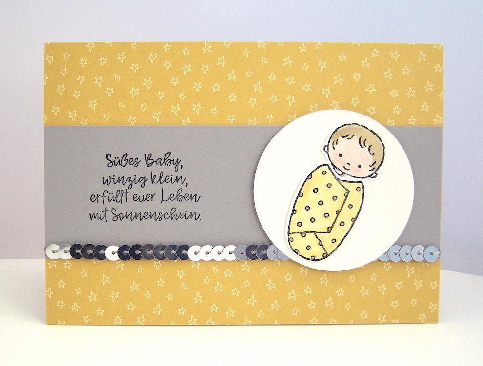 Geburt / Taufe - Karte zur Geburt -Baby- Bild 1