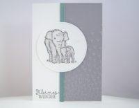 Karte zur Geburt Elefant Bild 1